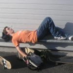 Le repos du skateboarder