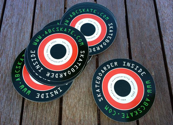 """stickers skateboard """"SKATEBOARDER INSIDE"""" abcskate.com"""