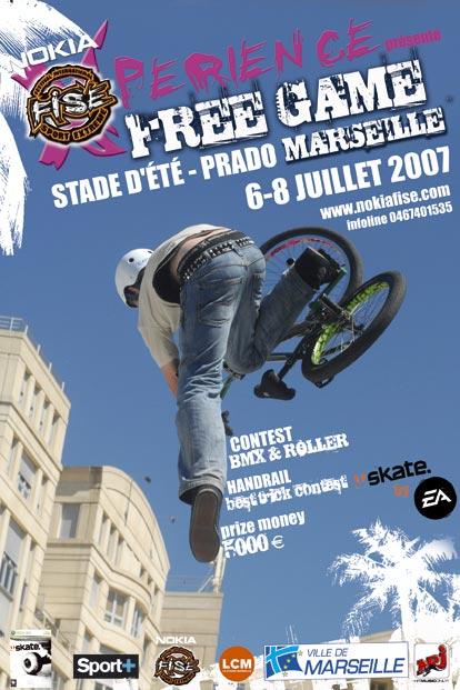 FREE GAME DE MARSEILLE du 6 au 8 juillet 2007 à Marseilles plage du Prado : skate
