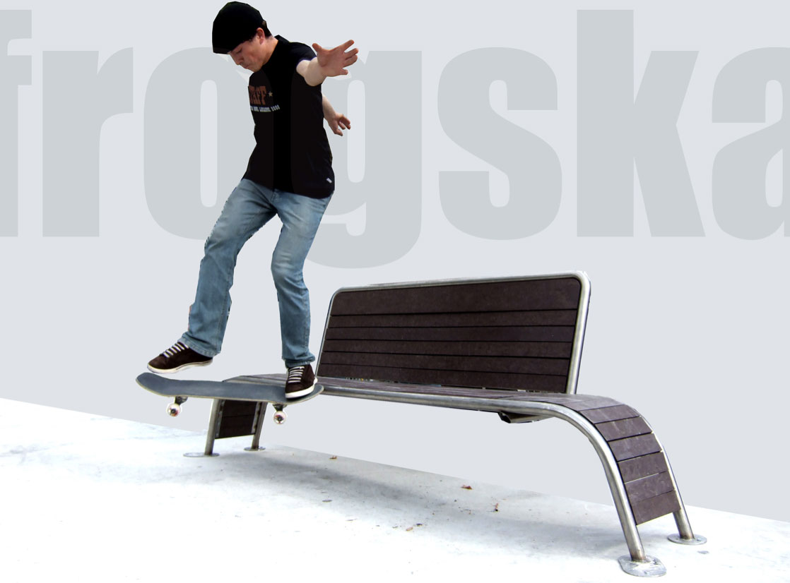 Frogska : banc pour le skateboard
