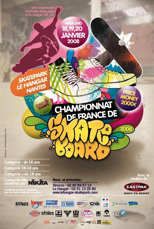 affiche championnat france de france de skaeboard à Nantes