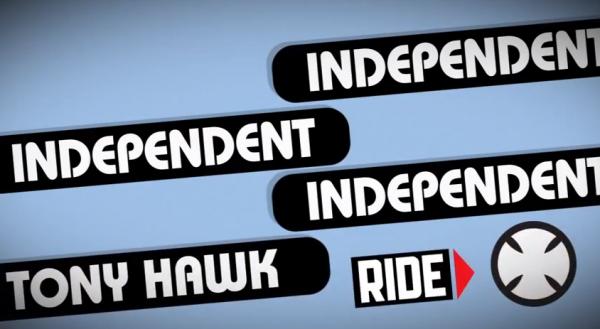 Tony Hawk a l'oeuvre pour Independant trucks 07
