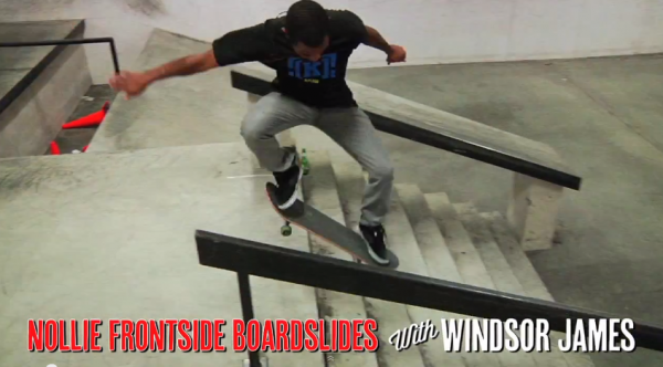 Apprendre le skateboard Nollie Frontside Boardslide 01