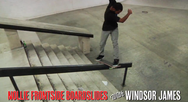 Apprendre le skateboard Nollie Frontside Boardslide