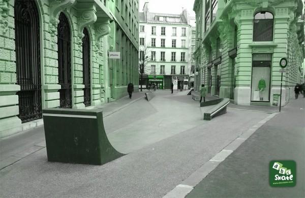 Skatepark Streetpark Bourse rue Leon Cladel