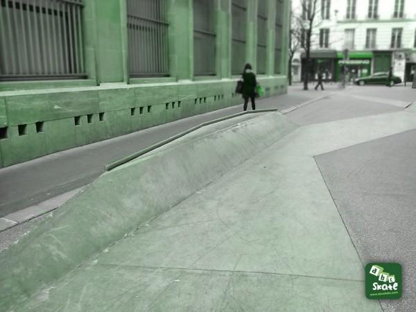 PLAN INCLINÉ Skatepark Streetpark Bourse rue Leon Cladel