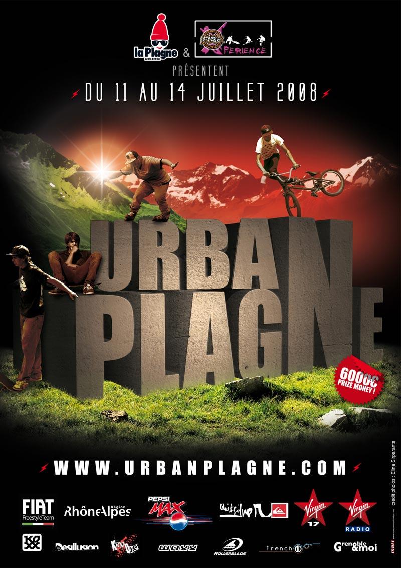 affiche urban plagne 2008 skate