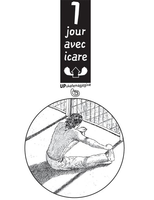 """bande dessinée Icare skate """"Un jour avec Icare"""""""