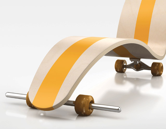 La Skate chair par Florent Lasbleiz