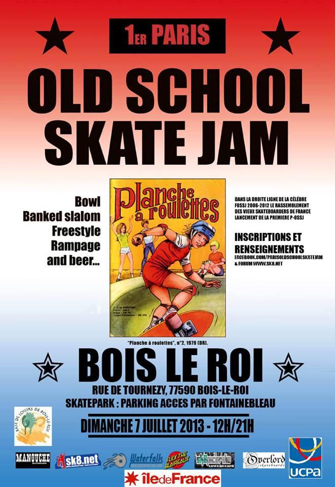 old school skate jam skatepark bois-le-roi 2013