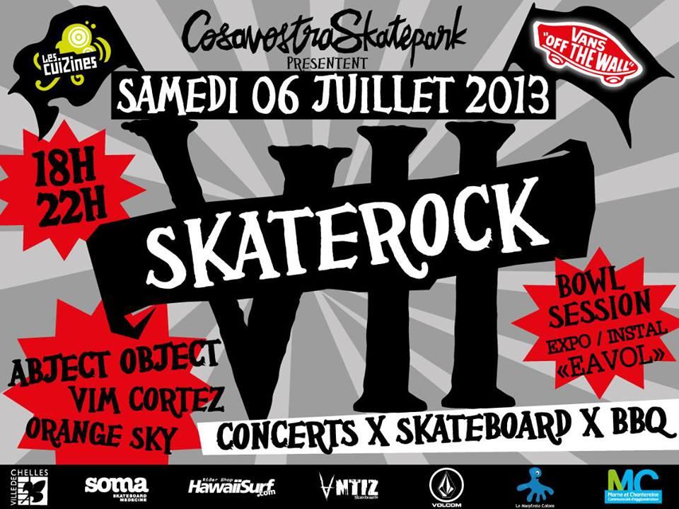 SKATEROCK 2013 au Cosanostra skatepark