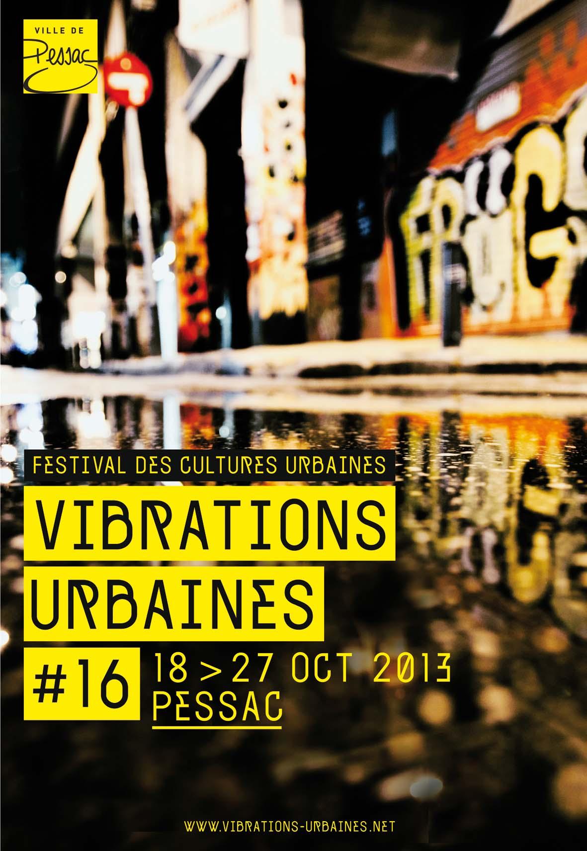 Affiche vibrations urbaines 2013