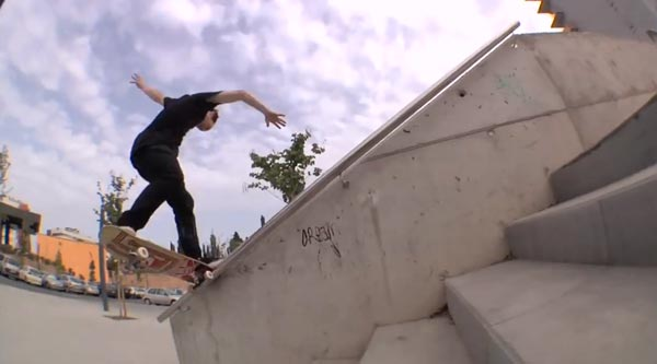 HOLD IT DOWN video Element Skateboards handrail crook fakie