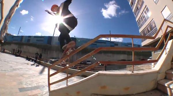 HOLD IT DOWN video Element Skateboards handrail frontside feeble