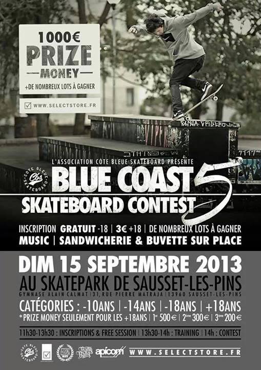 affiche BLUE COAST SKATEBOARD CONTEST 5