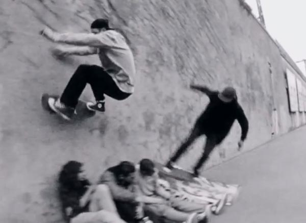 Ttrocadero days par converse skateboarding WALL RIDE