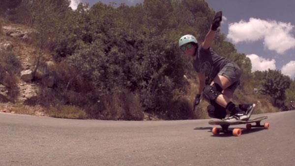 film Open du Longboard Girls Crew Slide slow motion