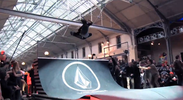 The world Of Volcom Stone Frontside ollie mute grab