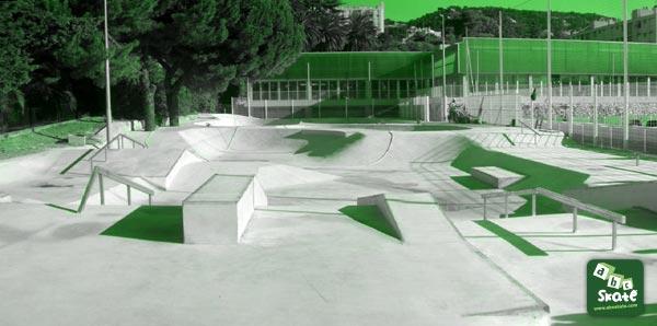 skatepark comte de falicon de Nice 06