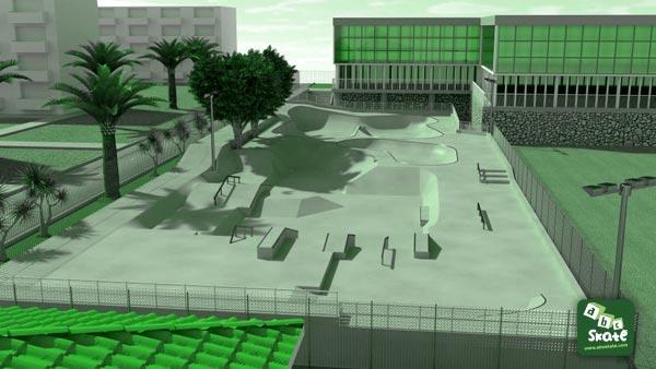 skatepark comte de falicon de Nice 02