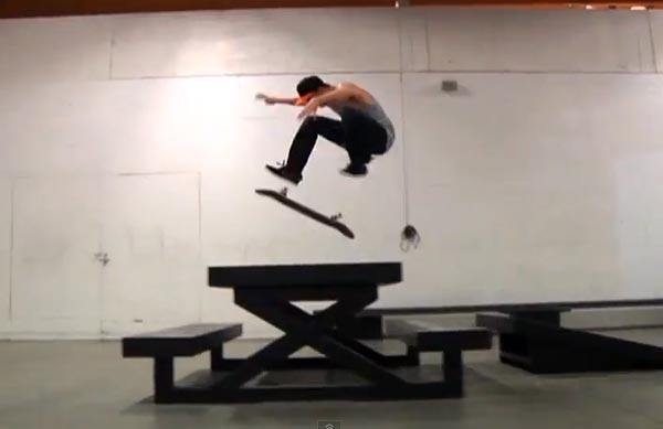skater Antony Lopez tré flip