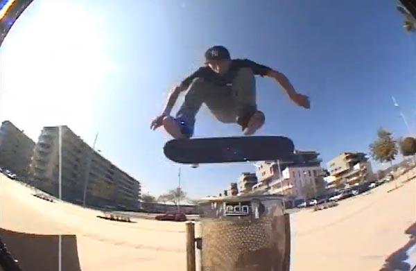 skater Antony Lopez nollie flip