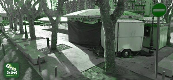 spot de skate place fontaine du temple à Nice 06000 01