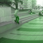 spot de skate mairie de creteil 94000 lipslide