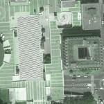 spot de skate mairie de creteil 94000 vue d'en haut