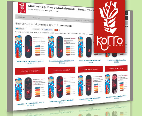Korro Skateboards skateshop