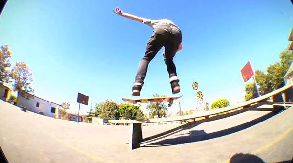 john dilorenzo skateboarder video pour split clothing - Flip 50/50