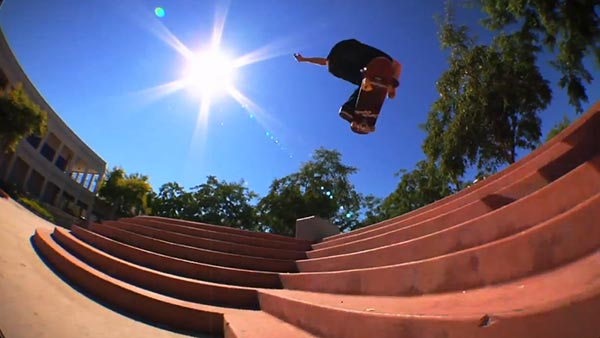 john dilorenzo skateboarder video pour split clothing - backside