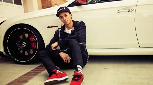 Nyjah Huston skateboarder : portrait