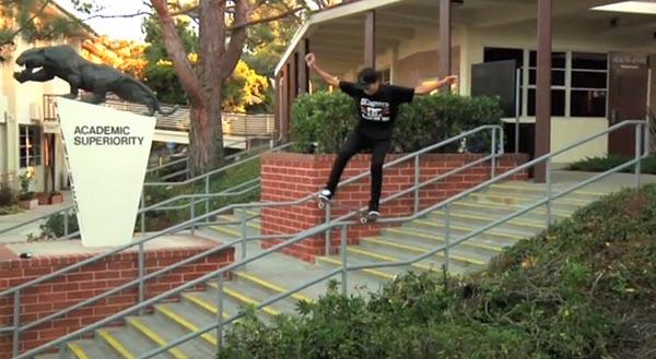 Nyjah Huston skateboarder : five O