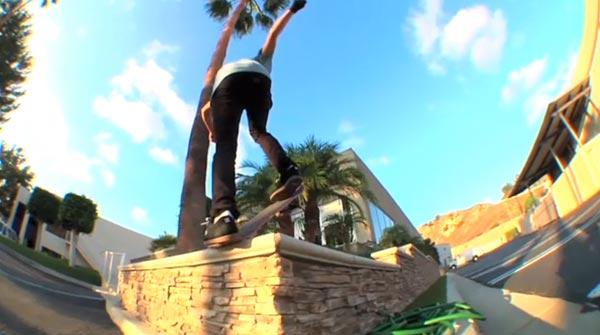 Nyjah Huston skateboarder : blunt slide backside