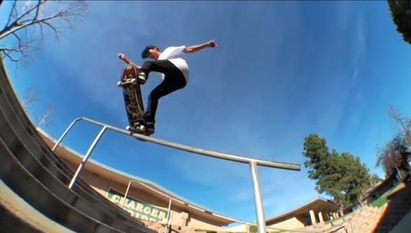 Nyjah Huston skateboarder : blunt slide