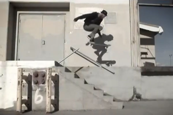 Patrick Melcher skateboarder : No comply to grip to gap