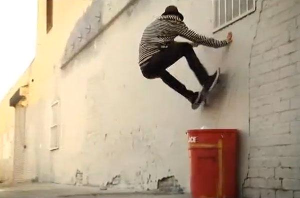Patrick Melcher skateboarder : wall ride