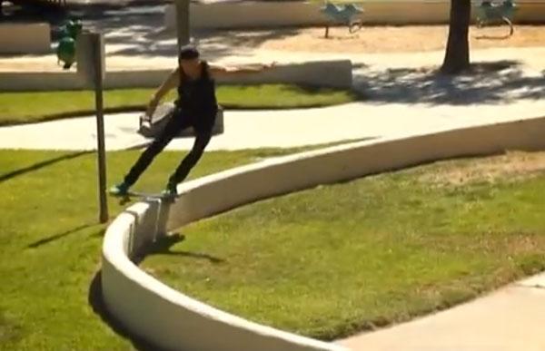 Patrick Melcher skateboarder : lipslide front en rond