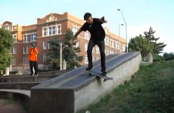 Patrick Melcher skateboarder : lipslide front