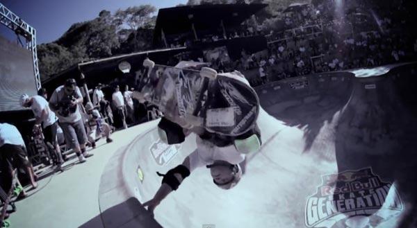 bowl de skate de Pedro Barros à Florianópolis au Brésil : handplant invert