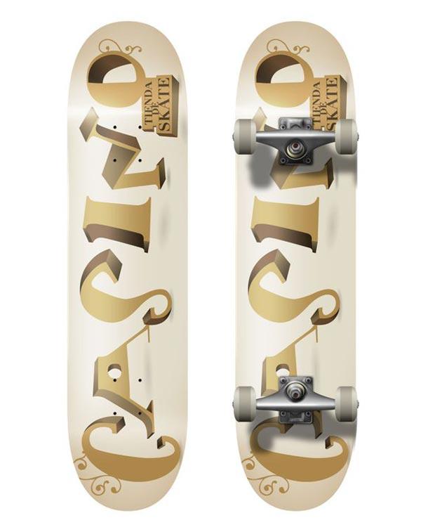 skateboard casino : typographie casino