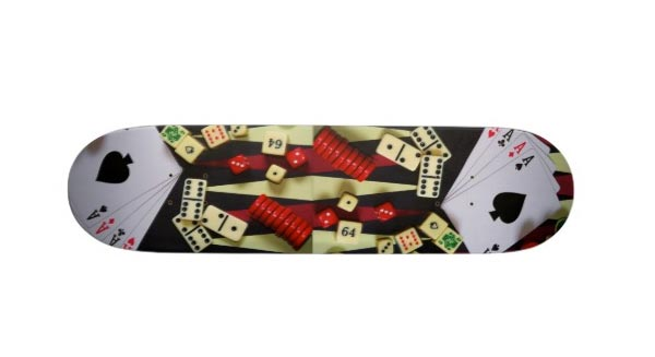 skateboard casino : tapis vert
