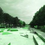 Skatepark de Magny Les Hameaux - Yvelines 78 : vue d'ensemble
