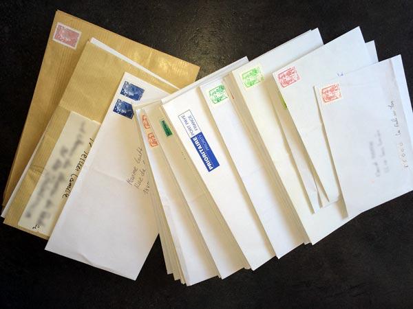enveloppes envoyées de stickers skate Abcskate.com