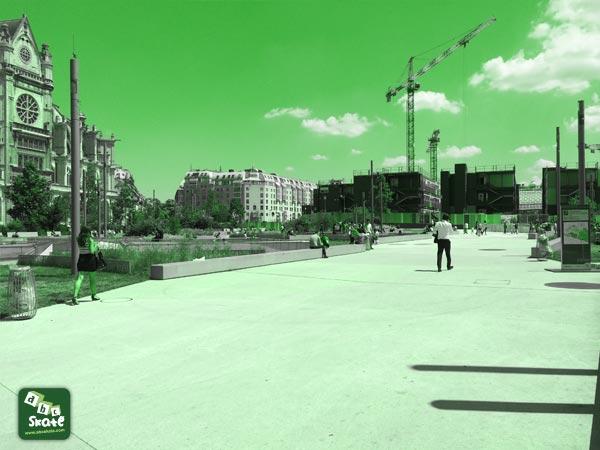 spot de skate Forum des halles Paris 75 : curbs