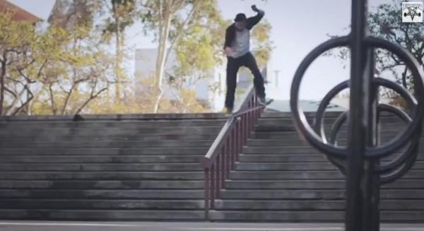 skater Ryan Decenzo video part : bluntslide frontside