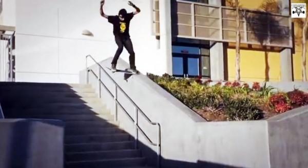 skater Ryan Decenzo video part : nose slide frontside