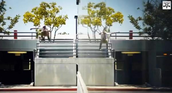 skater Ryan Decenzo video part : gap Ollie flip front 180° front
