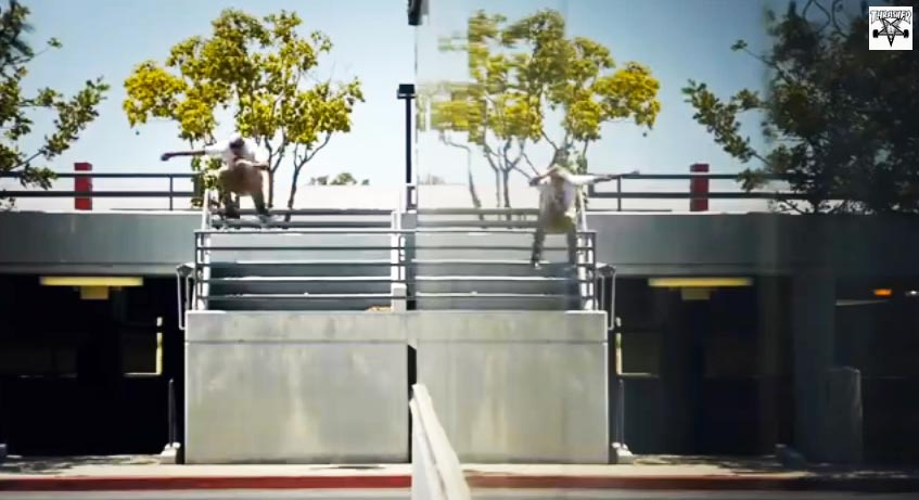skater Ryan Decenzo video part : gap Ollie flip front 180° front